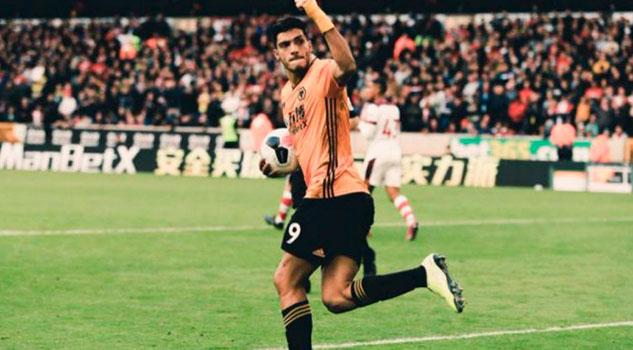 Raúl Jiménez vuelve a marcar con Wolverhampton después de seis partidos
