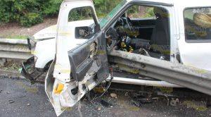 Se amputa la pierna en accidente automovilístico en la autopista Totomoxtle