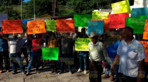 Se manifiestan en Papantla para pedir justicia en favor de pescador