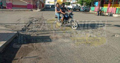 Destrozadas las calles de la zona centro de Cerro Azul