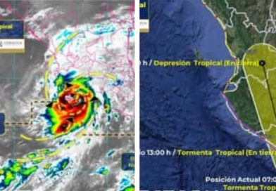 Tormenta tropical 'Dolores' toca tierra en San Juan de Aldama, Michoacán