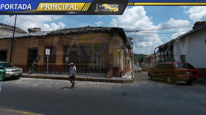 Rehabilitan edificio antiguo en Papantla