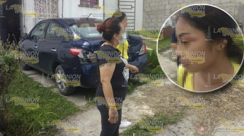 Jovencita golpeada por esposa de su acosador