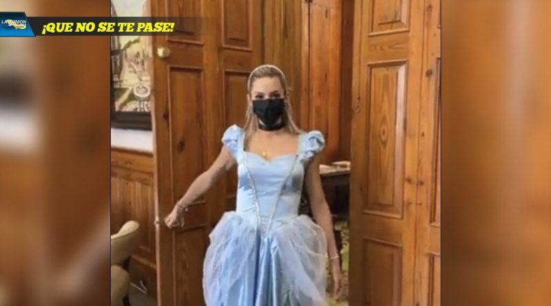 Mariana Rodríguez se disfraza de Cenicienta